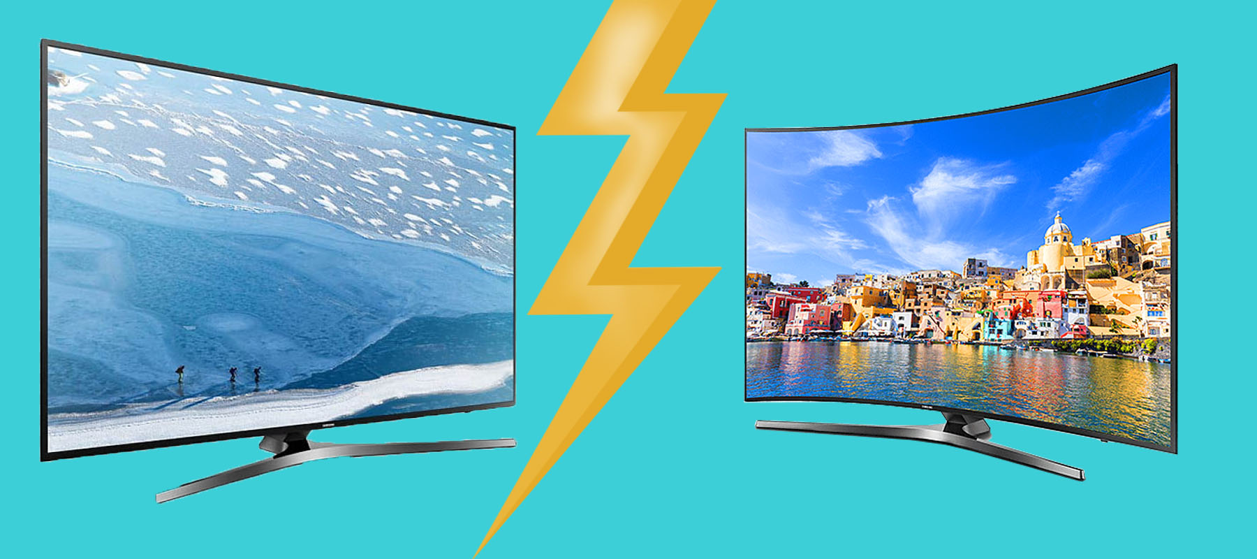 تفاوت تلویزیون منحنی با تخت