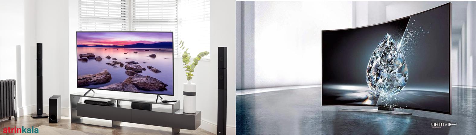 تفاوت تلویزیون تخت با منحنی