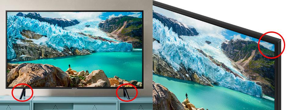 تفاوت تلویزیون های سامسونگ اصلی و تقلبی از طریق طراحی