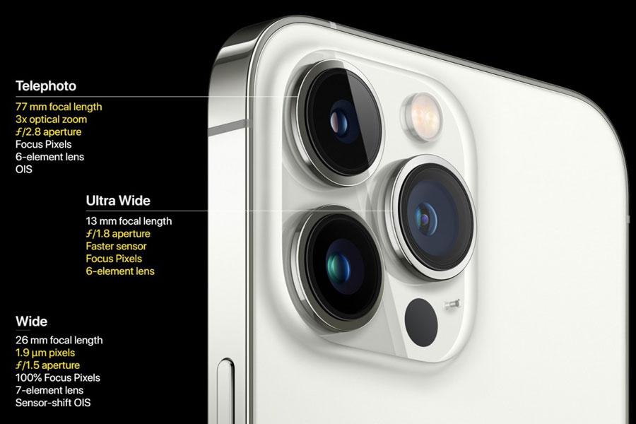 مشخصات دوربین آیفون 13