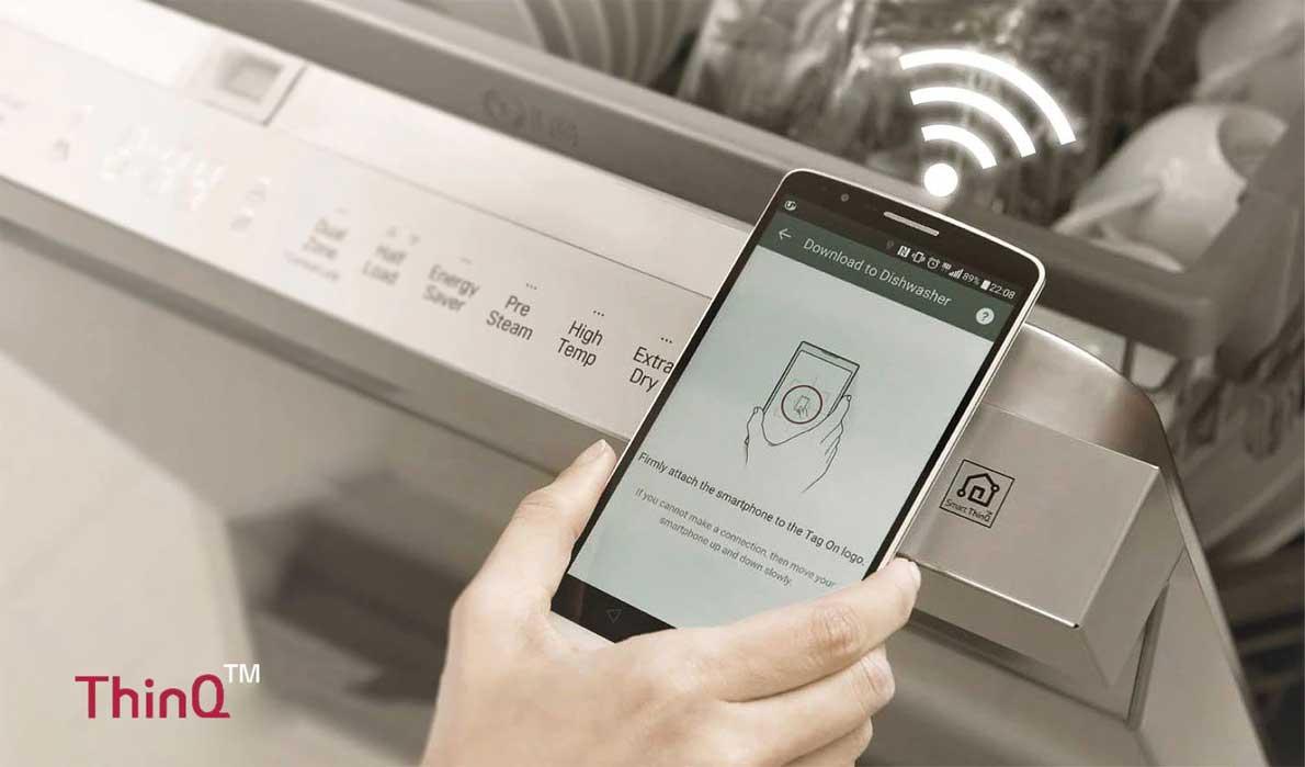 قابلیت اتصال هوشمند ظرفشویی DFB512