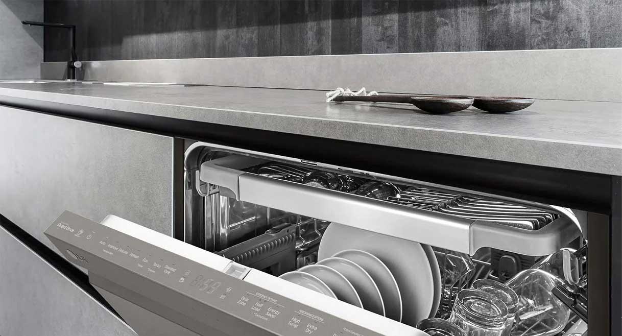 قابلیت خشکشویی ظرفشویی ال جی  DFB512