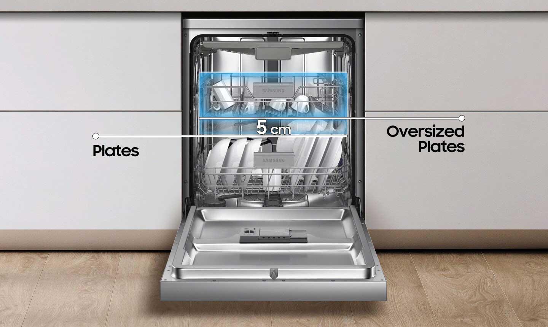 انعطاف پذیری بین قفسه ها ظرفشویی سامسونگ 13 نفره DW60M5050