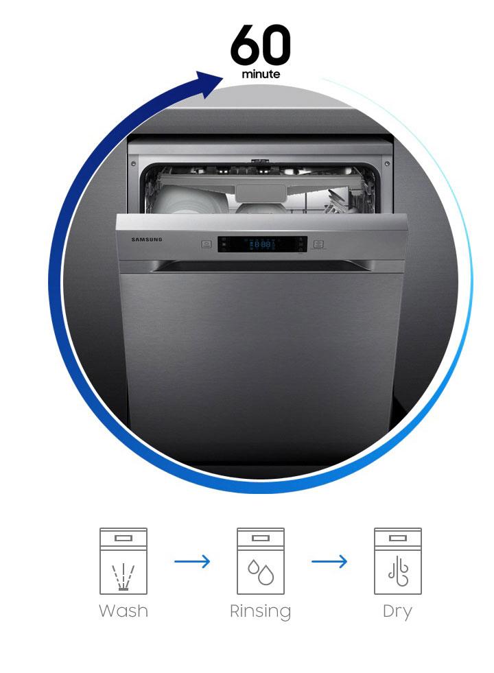 شستشوی سریع ظرفشویی سامسونگ DW5050