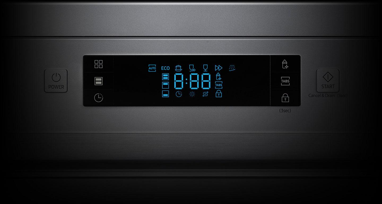 کنترل دقیق با صفحه نمایش LED ظرفشویی سامسونگ 13 نفره DW60M5050