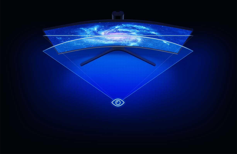 صفحه نمایش با طراحی منحنی Curved