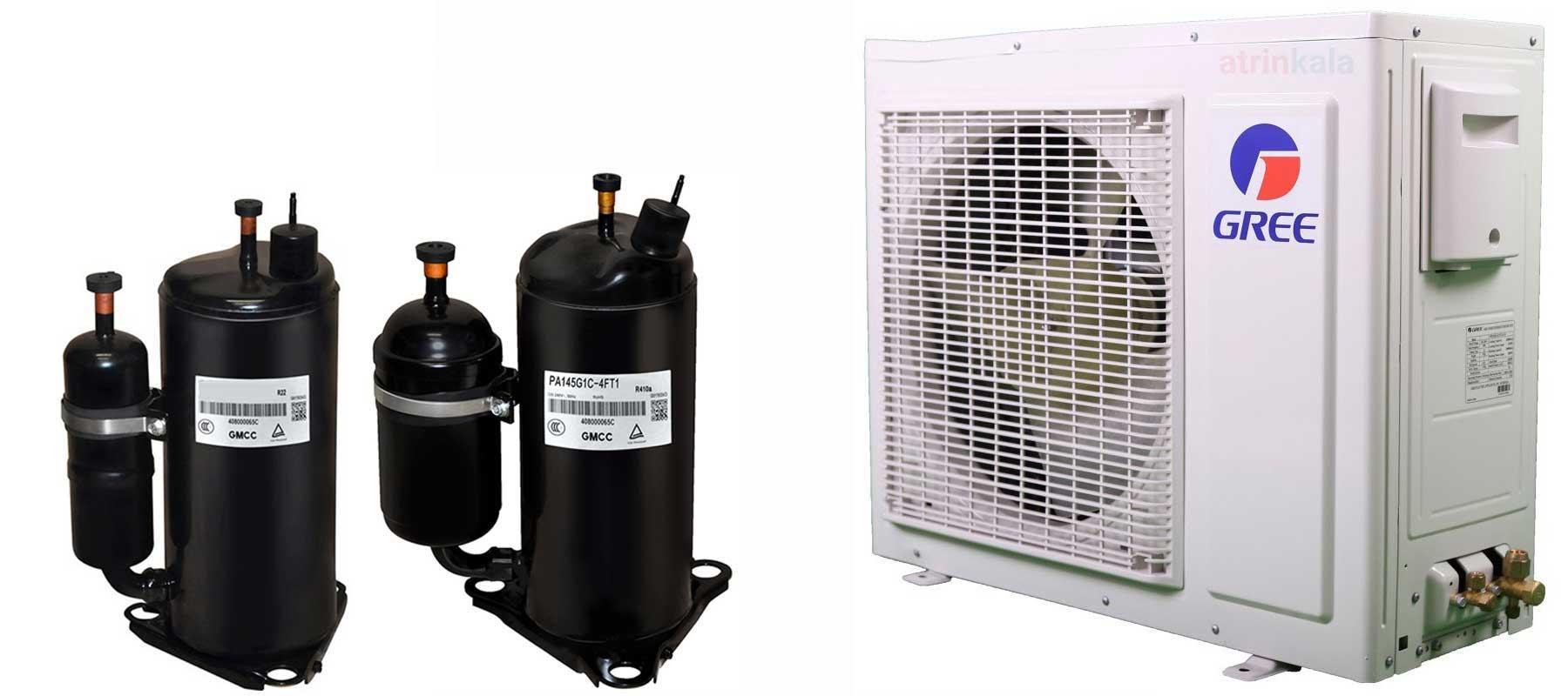 کمپرسور t3 و گاز مصرفی کولر گازی گری 24000