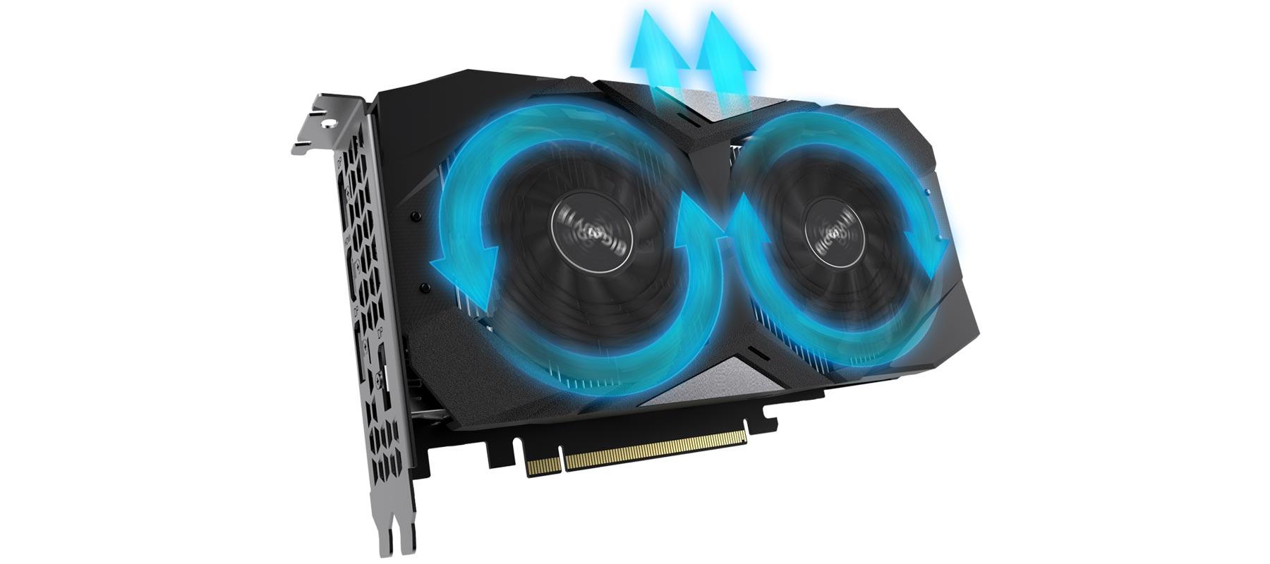 سیستم خنک کننده کارت گرافیک گیگابایت GeForce RTX 2060 D6 6G