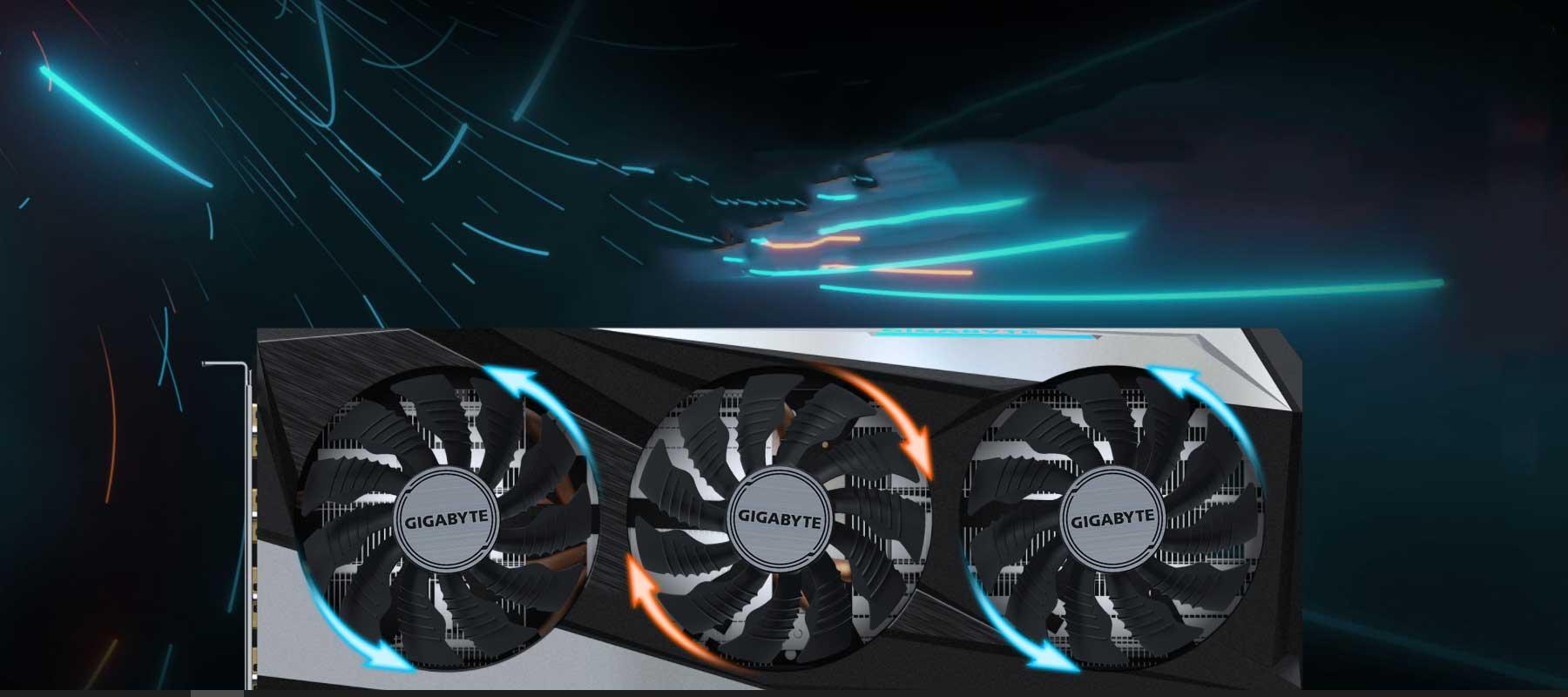 خنک کننده کارت گرافیک گیگابایت Radeon RX 6700 XT GAMING OC