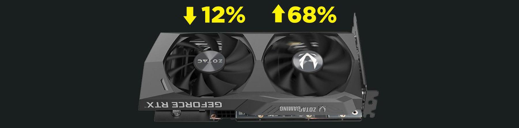 خنک کننده کارت گرافیک ZOTAC GeForce RTX 3060 Ti Twin Edge OC