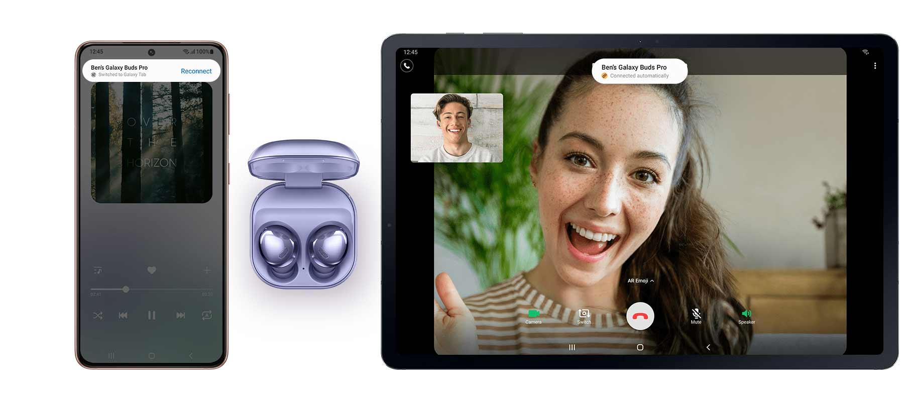 قابلیت اتصال راحت هدفون بی سیم سامسونگ Galaxy Buds Pro