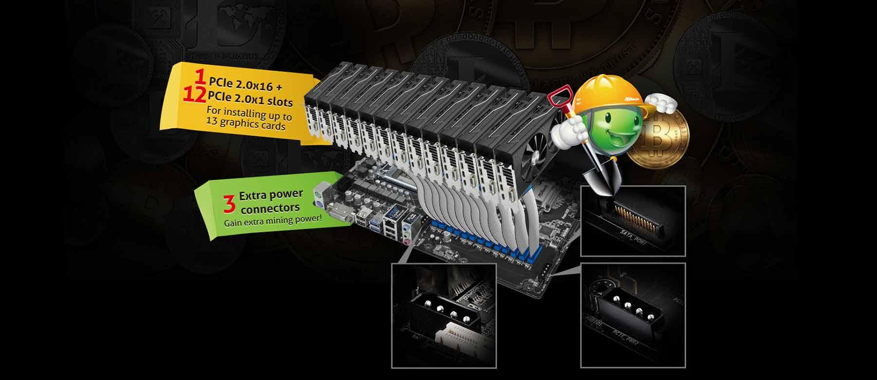 مادربرد +ASRock H110 Pro BTC