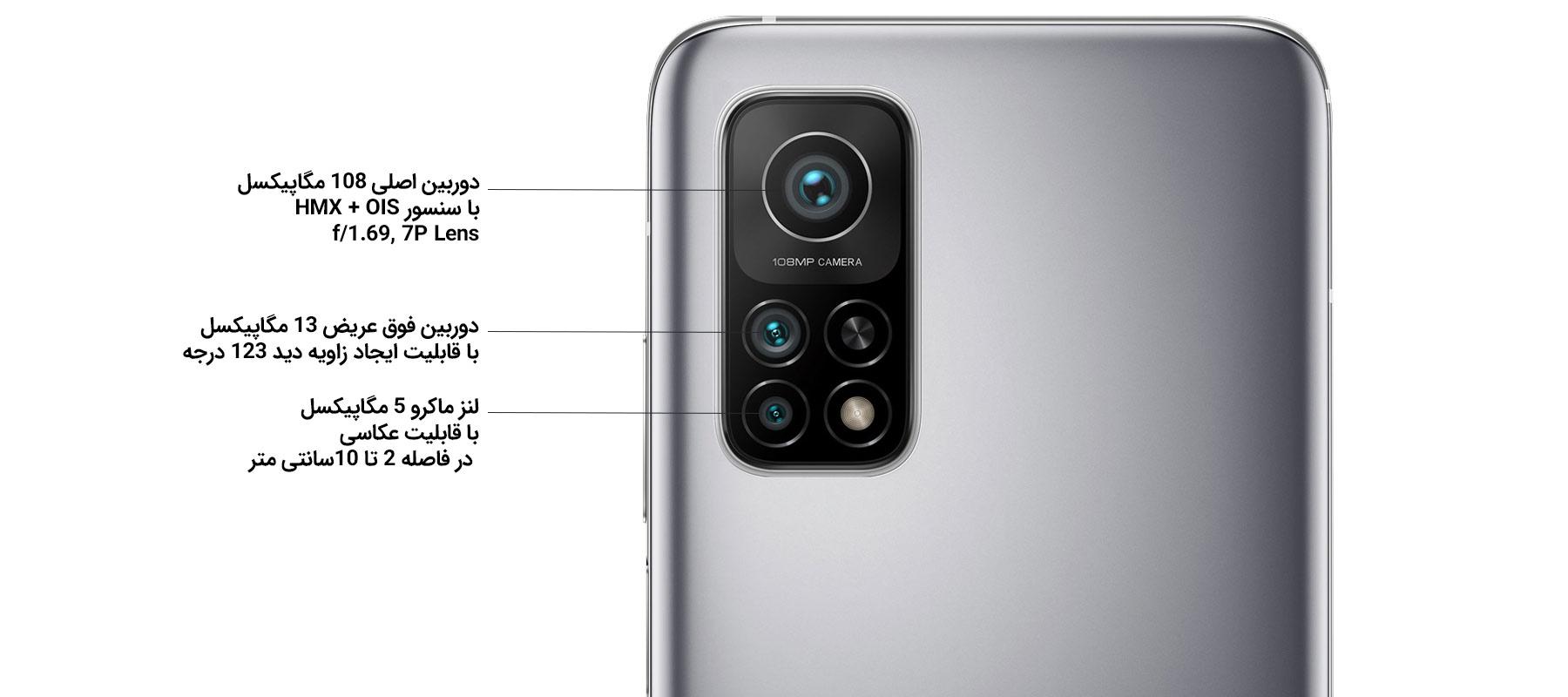 دوربین 3 گانه گوشی شیائومی Mi 10T Pro