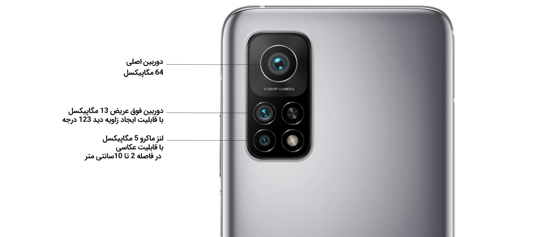 دوربین 3 گانه گوشی شیائومی Mi 10T