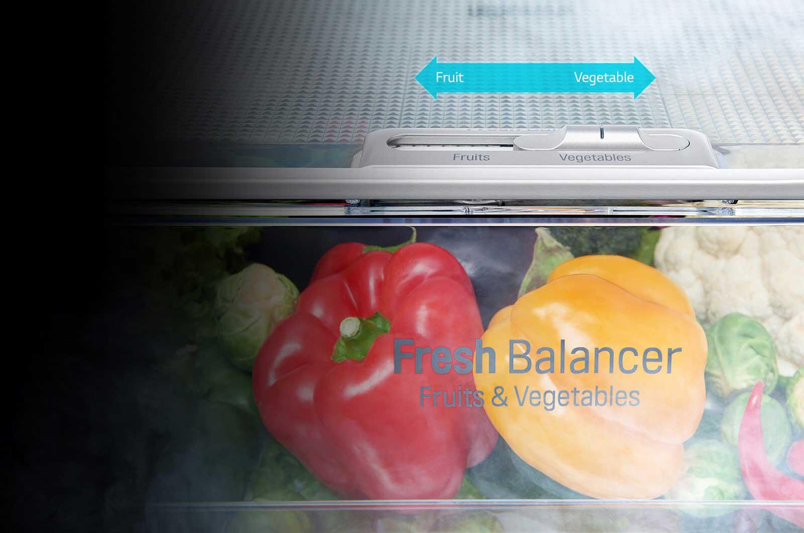 تنظیم رطوبت کافی برای جعبه سبزیجات