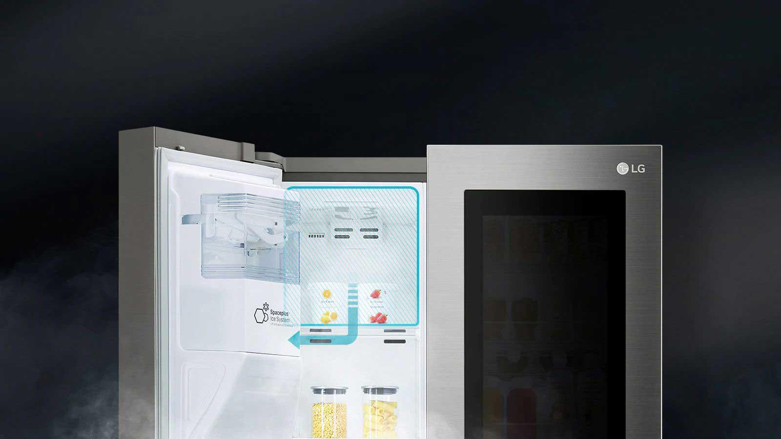 سیستم یخساز یخچال ال جی ساید بای ساید x259