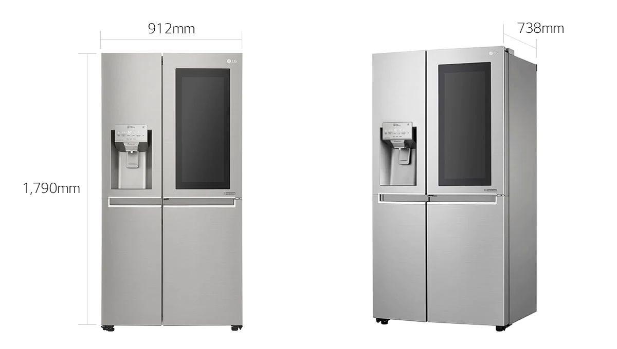 ابعاد یخچال ال جی ساید بای ساید x259