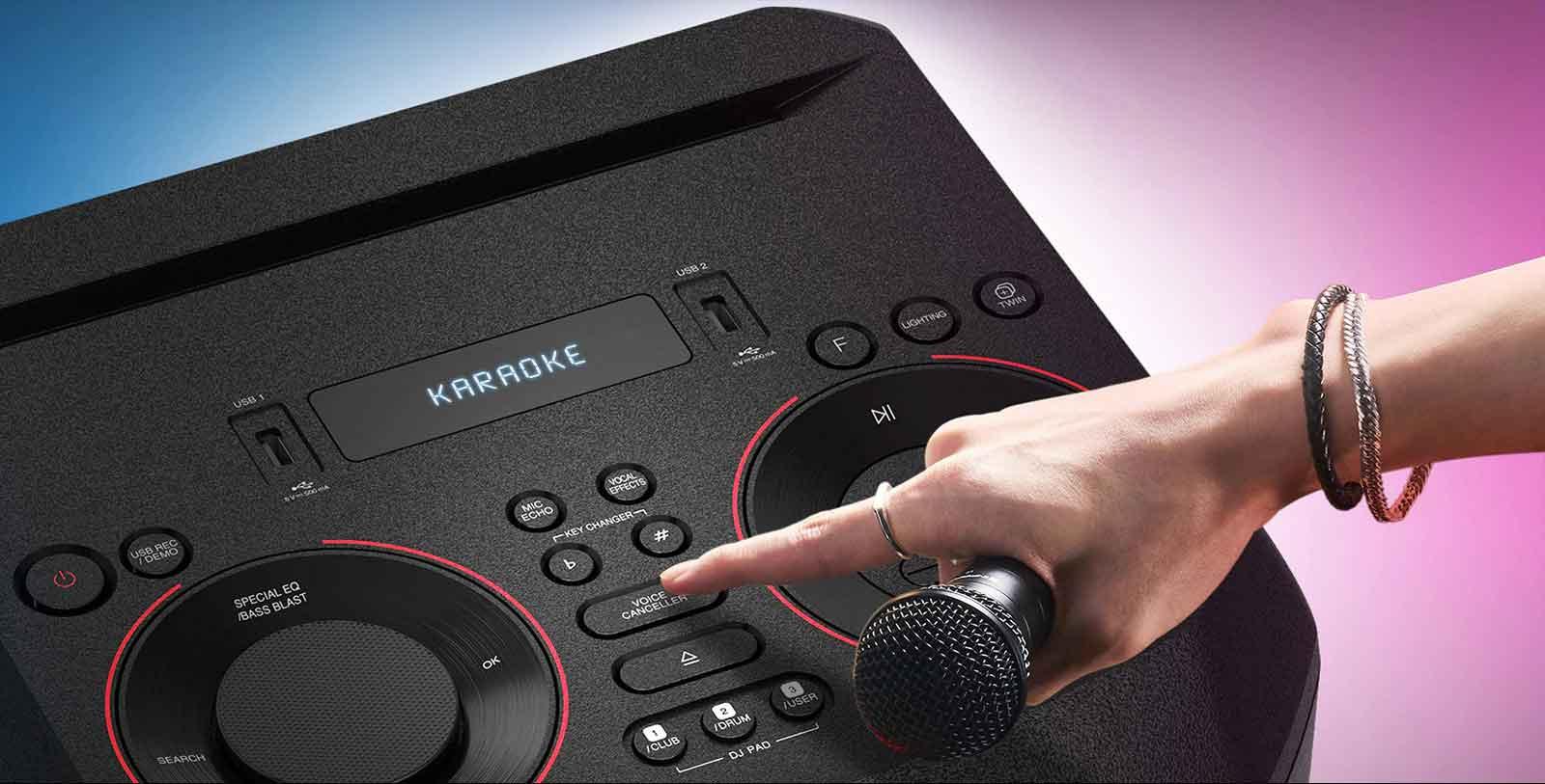 قابلیت کارائوکه سیستم صوتی ال جی on7