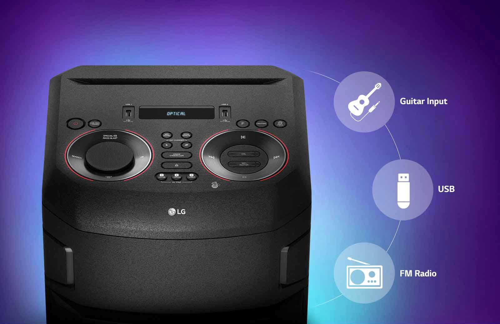 اتصالات چند گانه سیستم صوتی ال جی rn5