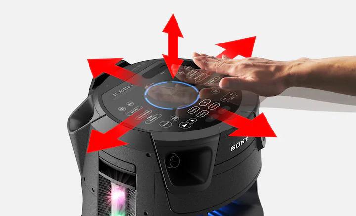 کنترل سیستم با حرکت عمودی و افقی دست