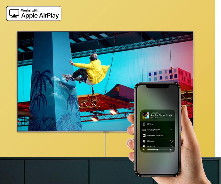 قابلیت Airplay2 تلویزیون سامسونگ 55tu7072