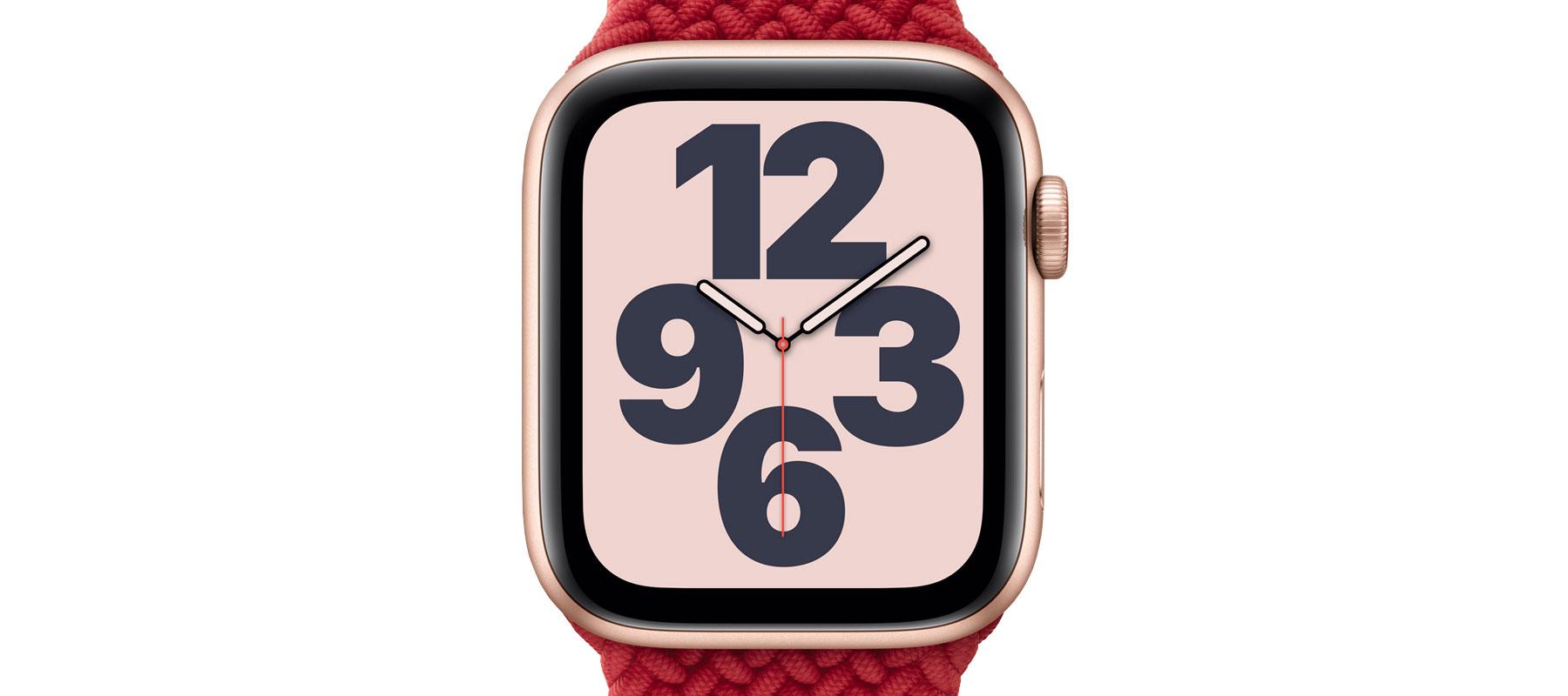 صفحه نمایش ساعت هوشمند اپل واچ SE