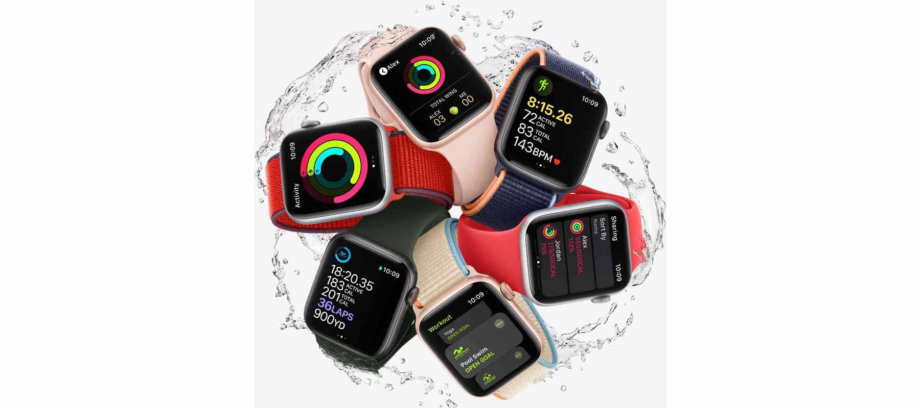ویژگی ضد آب ساعت هوشمند اپل واچ SE