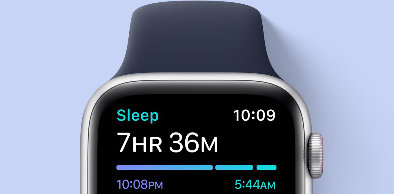 برنامه سلامت خواب در ساعت هوشمند اپل واچ SE