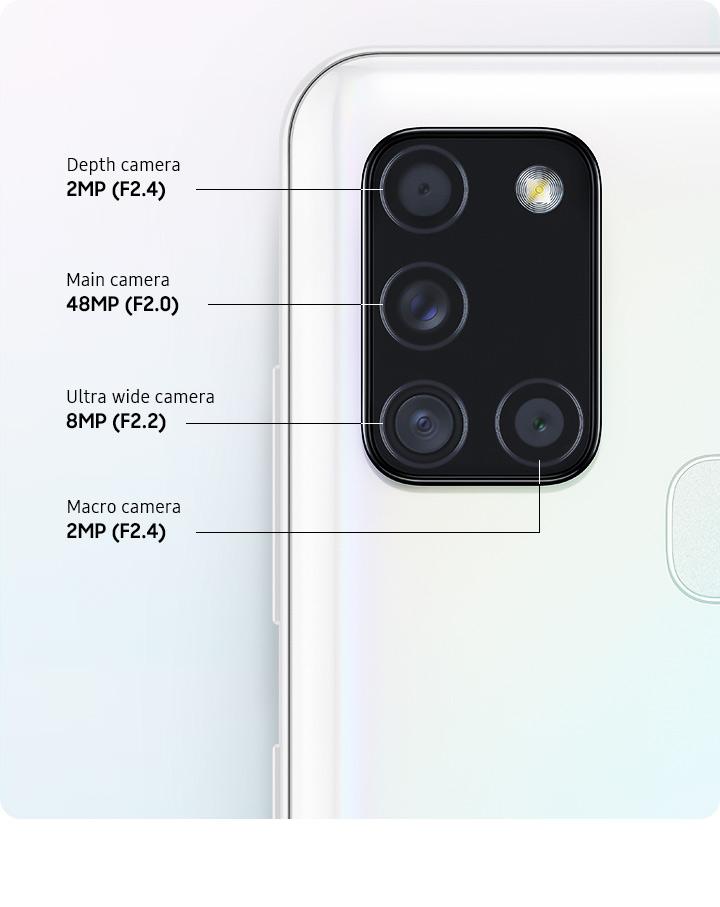 دوربین چهارگانه گوشی Galaxy A21s