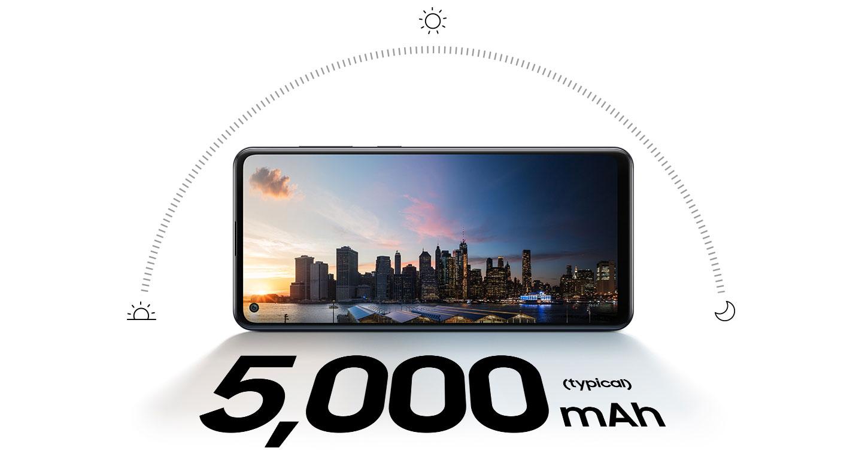 باتری قدرتمند و بادوام گوشی Galaxy A21s